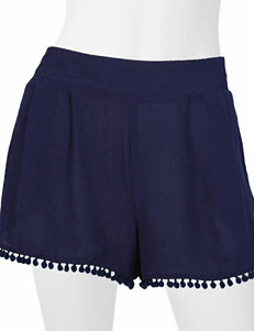 A. Byer Navy Soft Shorts