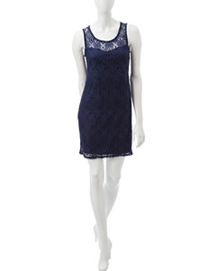 Wishful Park Navy Everyday & Casual Sheath Dresses