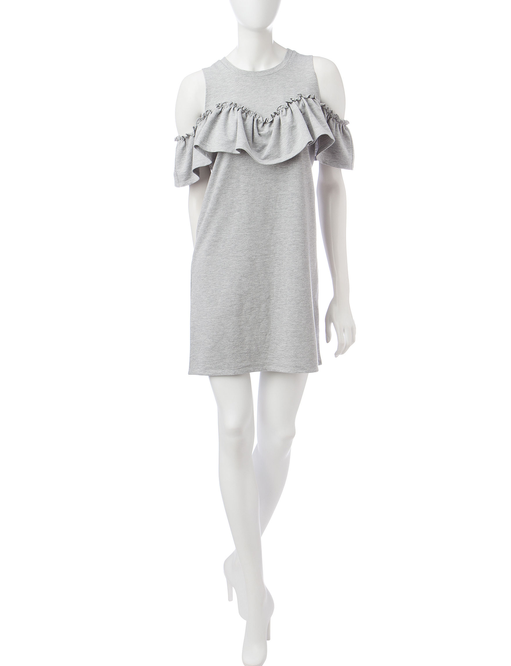 Fire Grey Everyday & Casual Shift Dresses