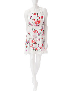 Fire White Everyday & Casual Shift Dresses