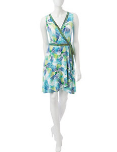 London Times Green Everyday & Casual A-line Dresses