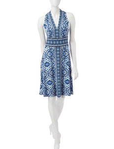 London Times Blue Everyday & Casual A-line Dresses