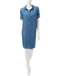 JM Studio Blue Everyday & Casual Shift Dresses