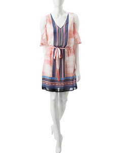 Signature Studio Pink Everyday & Casual Shirt Dresses