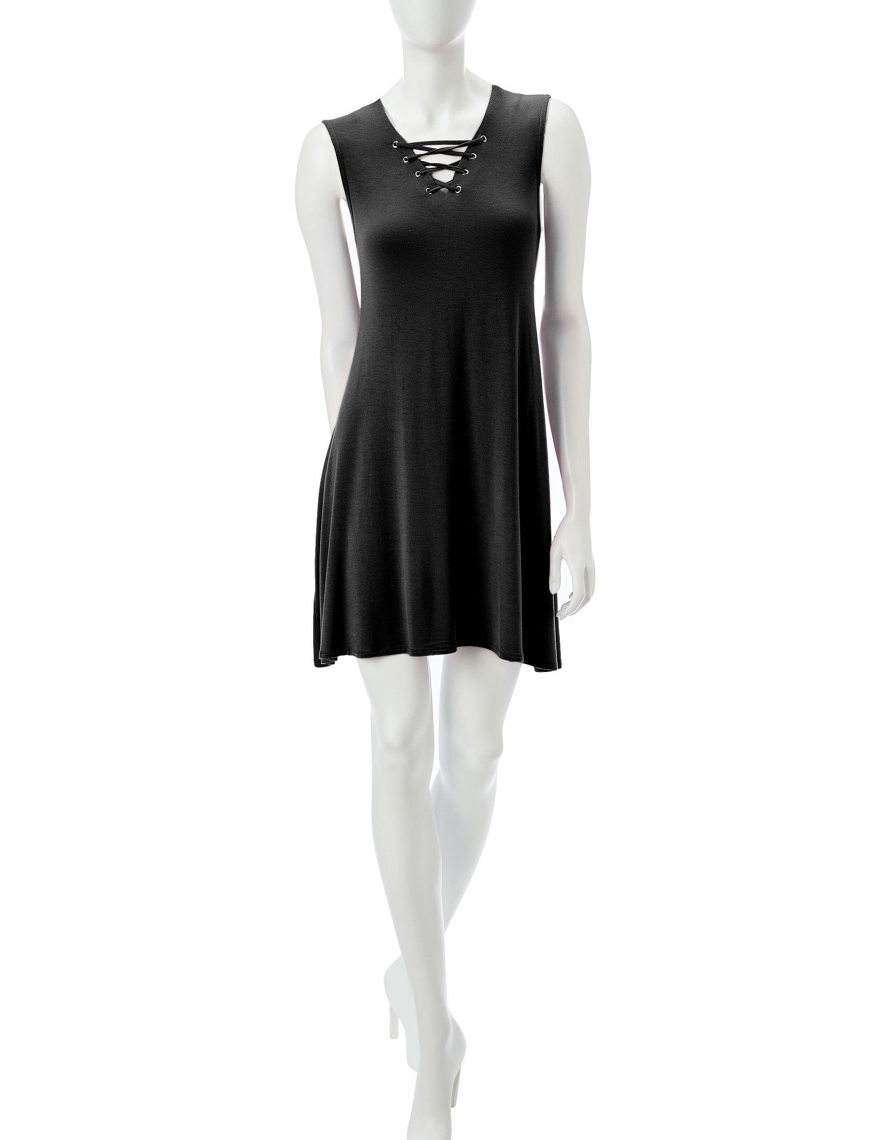 Wishful Park Black Everyday & Casual Shirt Dresses