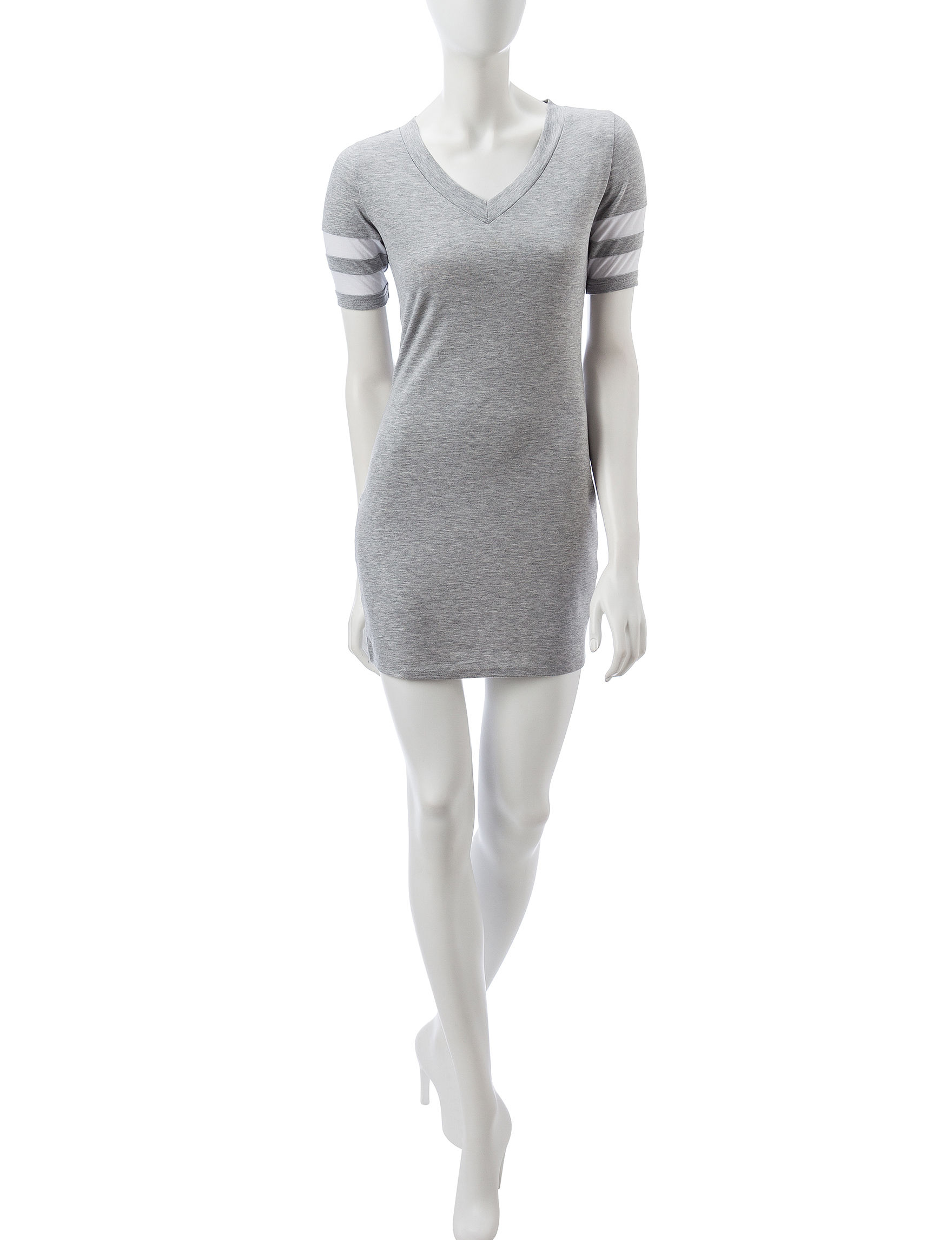 Almost Famous Grey Everyday & Casual Shirt Dresses