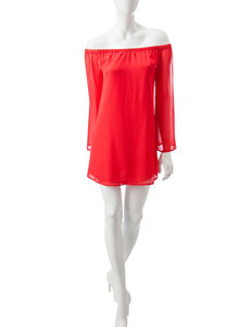 Fire Red Everyday & Casual Shift Dresses