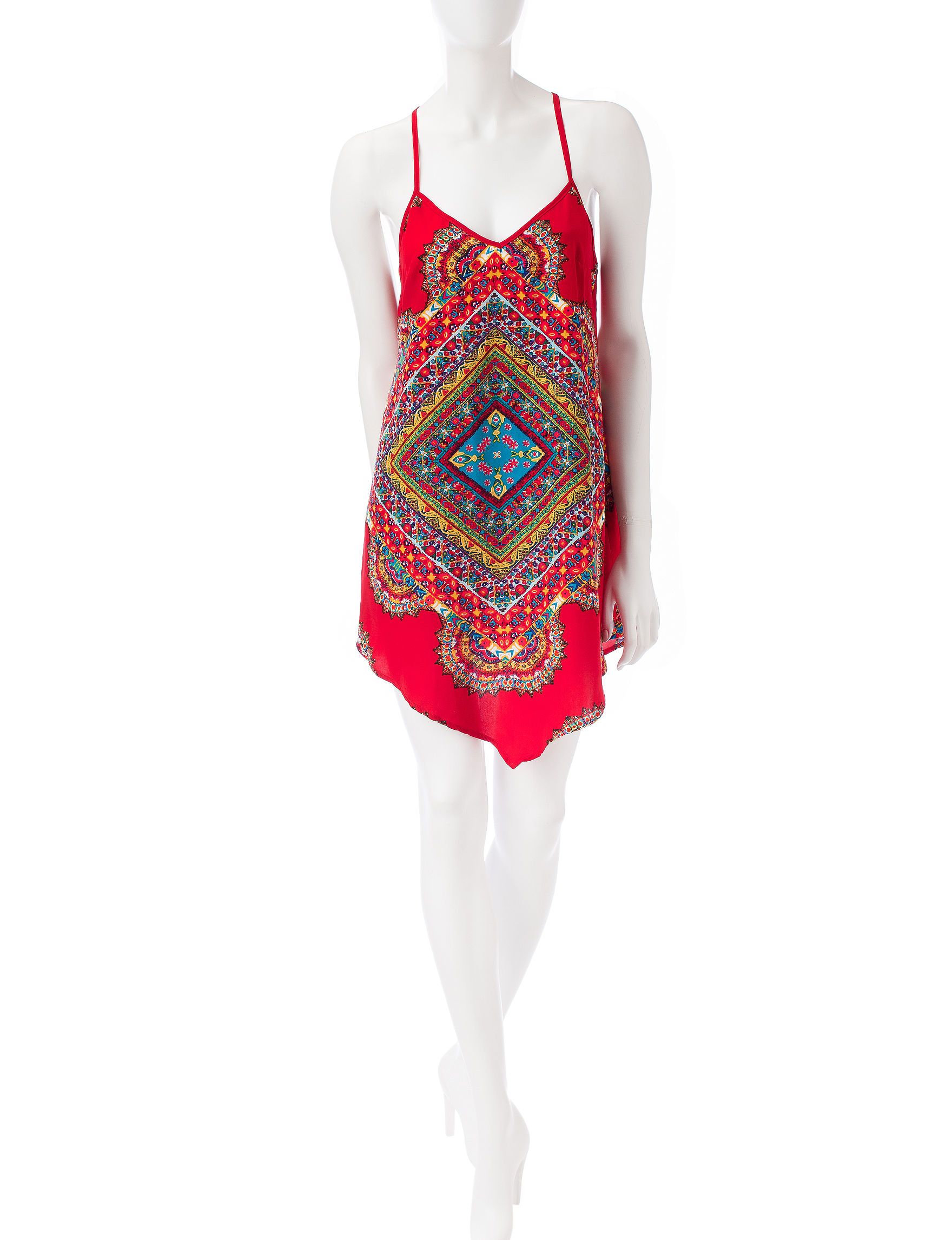 BeBop Red Everyday & Casual Shift Dresses