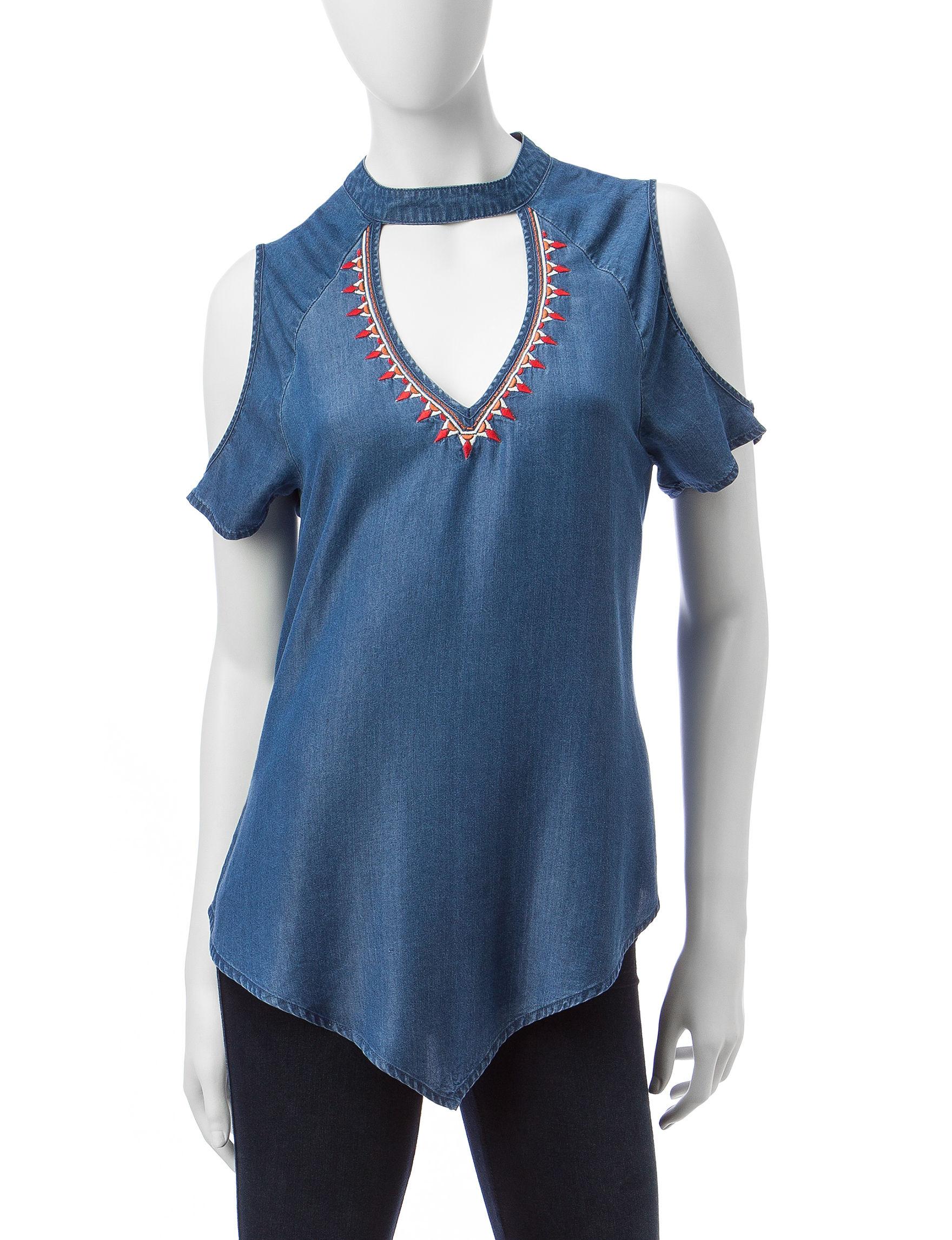 Heart Soul Chambray Shirts & Blouses