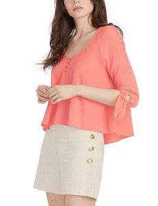XOXO Coral Shirts & Blouses
