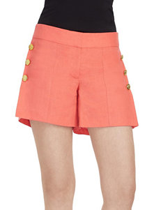 XOXO Side Button Accent Shorts