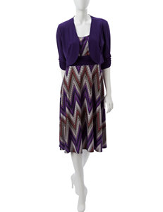 Perceptions Purple Everyday & Casual Jacket Dresses