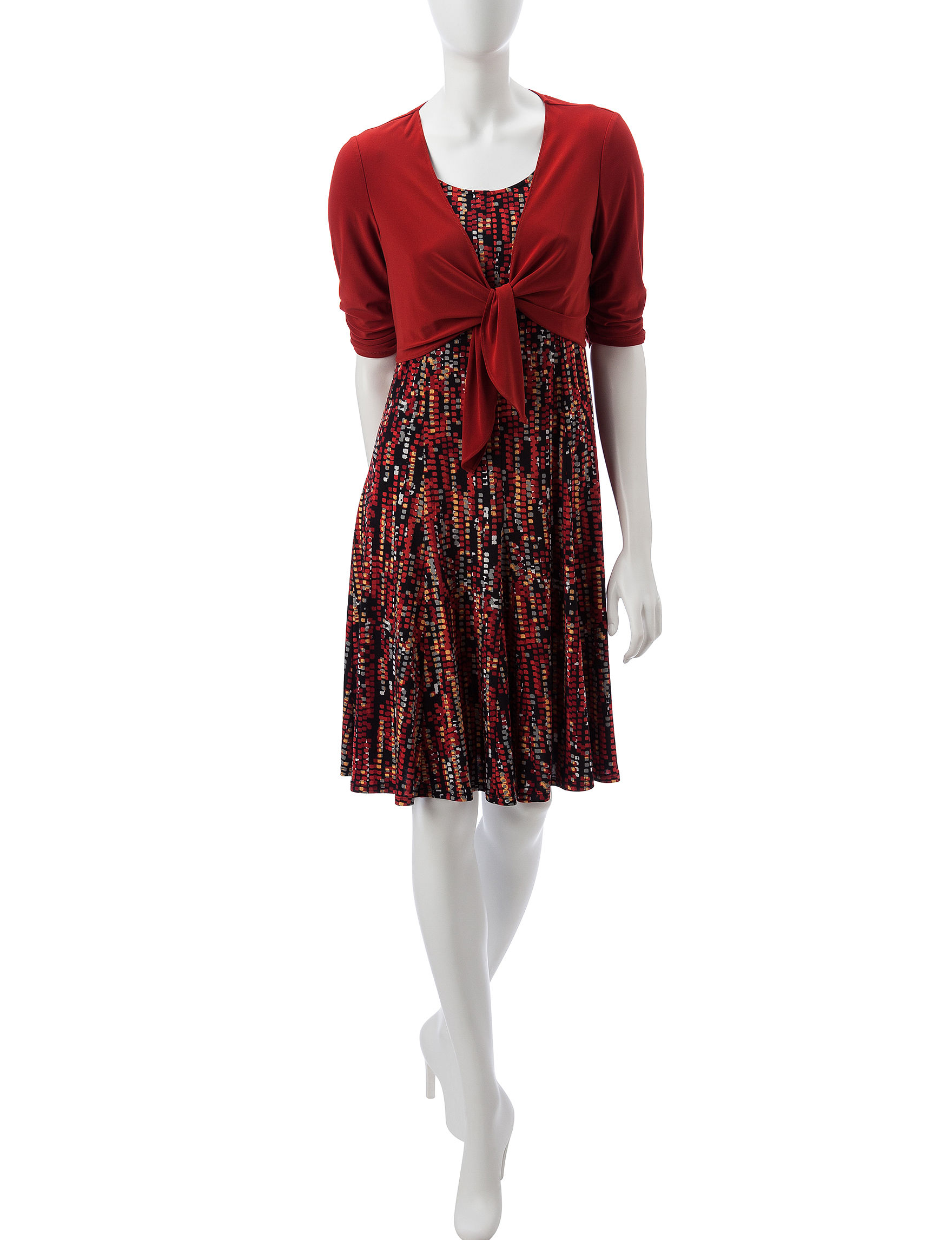 Perceptions Red Everyday & Casual Jacket Dresses