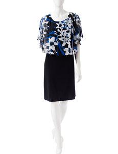 Connected Chiffon Poncho Dress