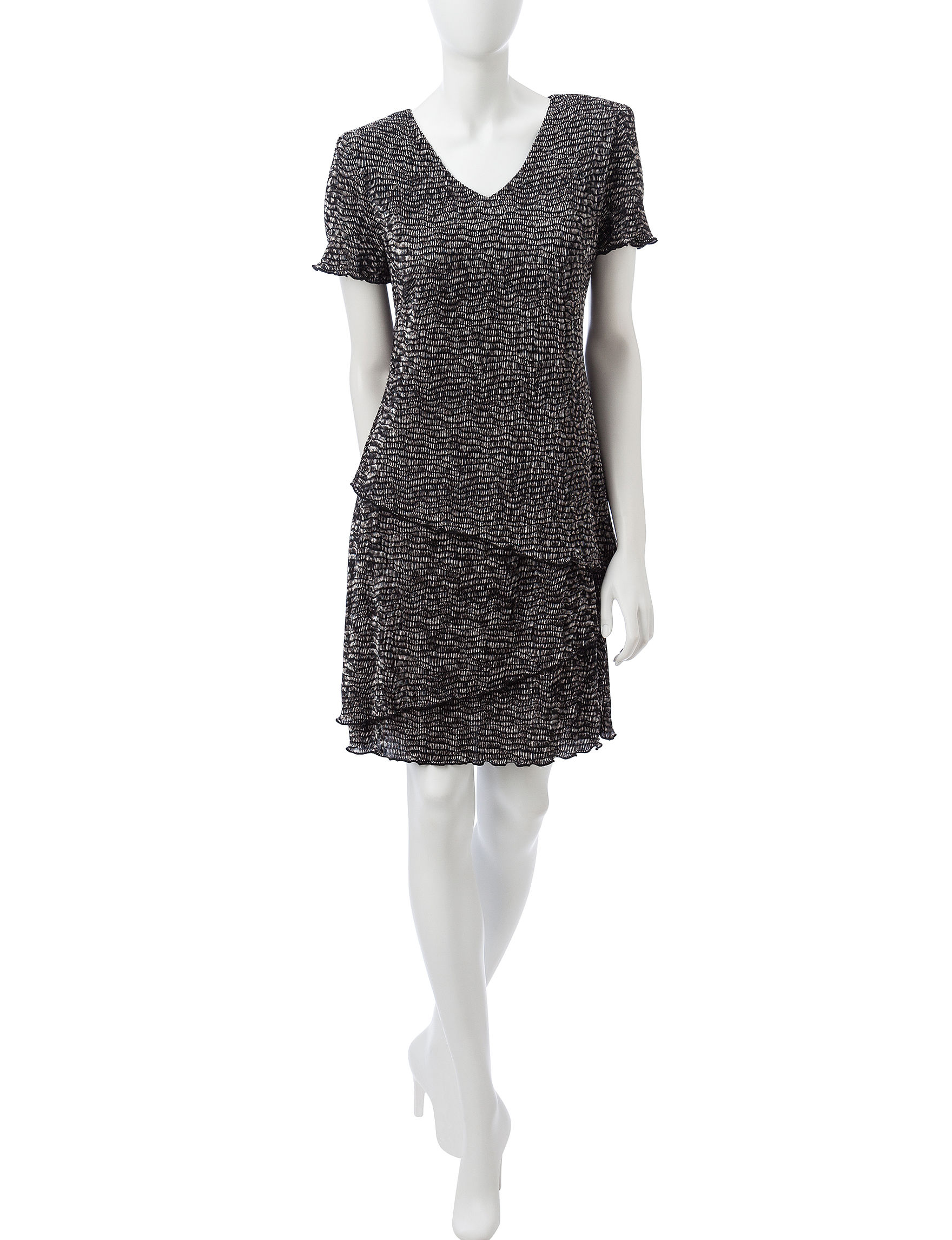 Connected Black Everyday & Casual Sheath Dresses