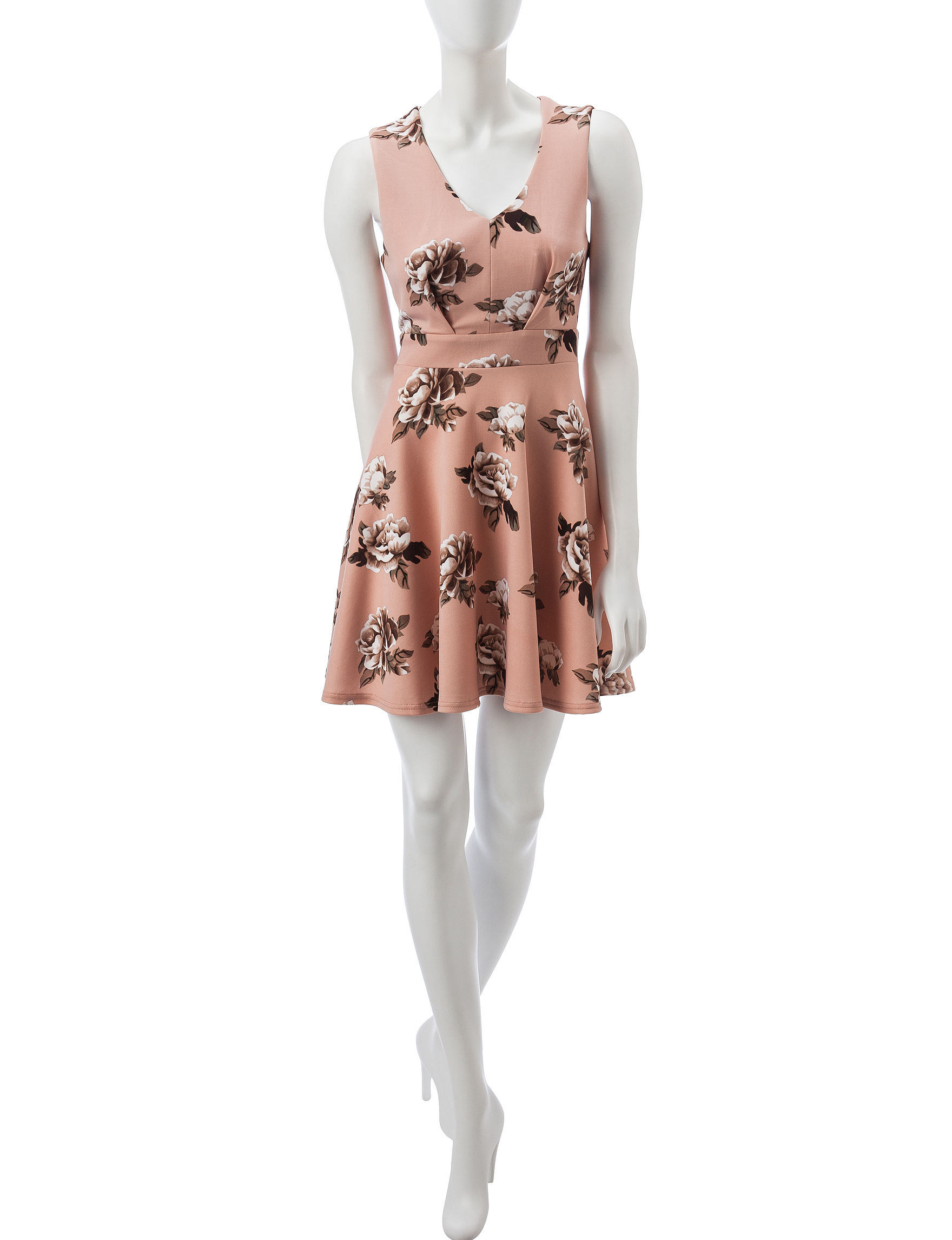 Wishful Park Pink Everyday & Casual Fit & Flare Dresses