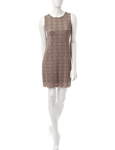 Ronni Nicole Black / Taupe Everyday & Casual A-line Dresses