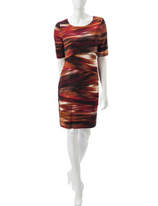 Connected Brown Everyday & Casual Sheath Dresses