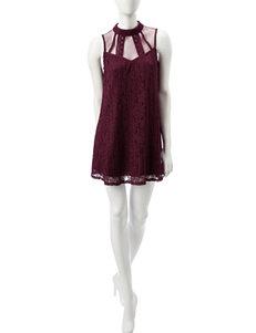 Speechless Merlot Everyday & Casual Shift Dresses