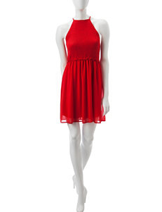 My Michelle Red Everyday & Casual Fit & Flare Dresses