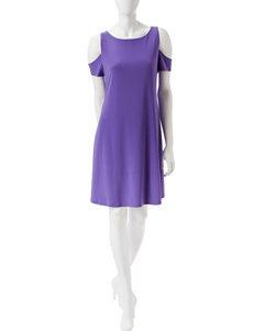 Nine West Purple Everyday & Casual A-line Dresses