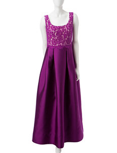 Sangria Lace Bodice Gown