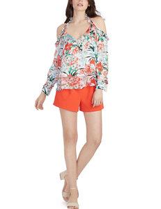 XOXO Orange Shirts & Blouses