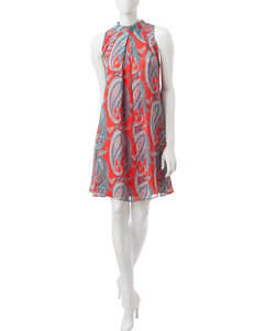 Robbie Bee Coral Everyday & Casual Shift Dresses