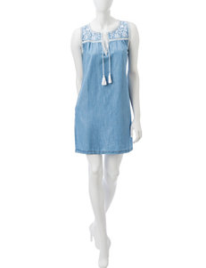 Spense Chambray Everyday & Casual Shift Dresses
