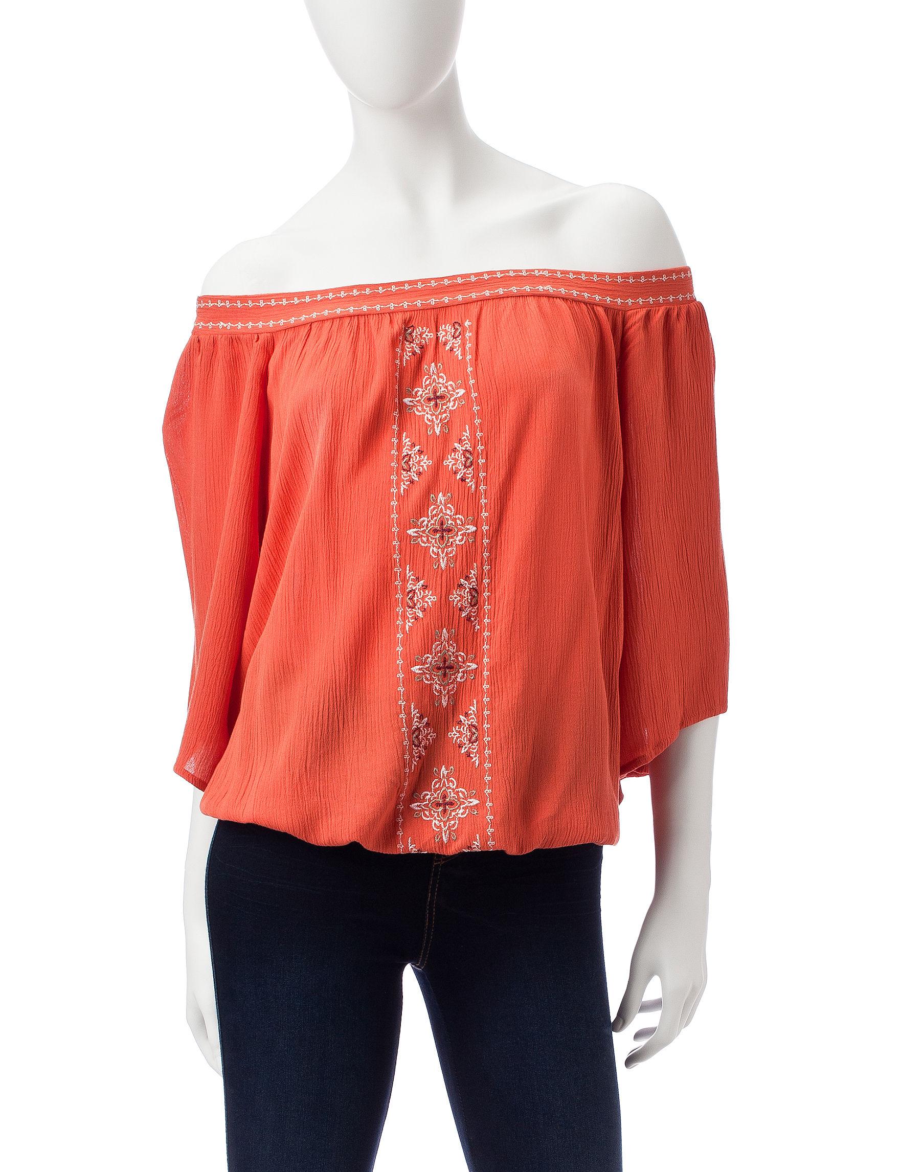 My Michelle Orange Shirts & Blouses