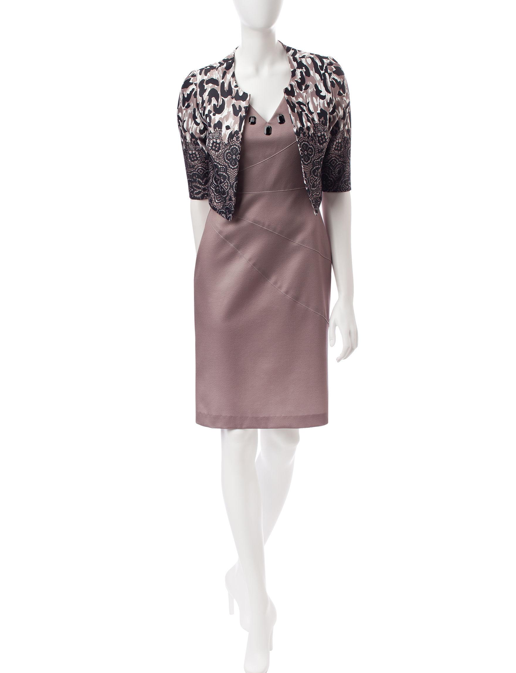 Dana Kay Brown Everyday & Casual Jacket Dresses