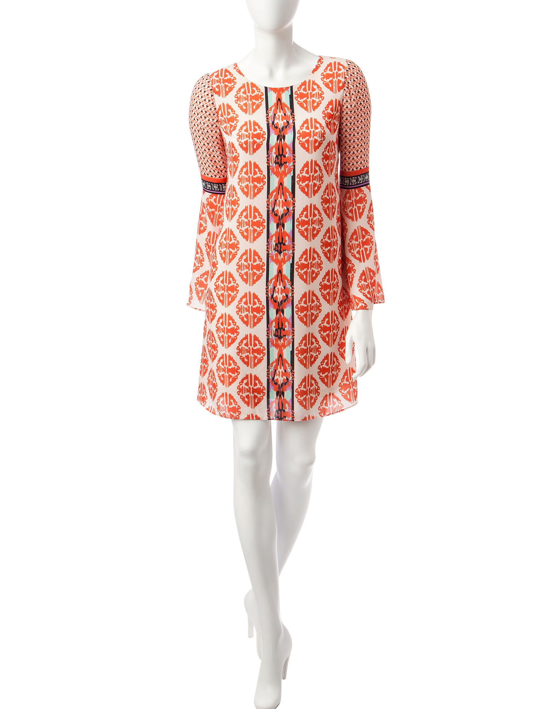 Beige by ECI Orange Everyday & Casual Shift Dresses
