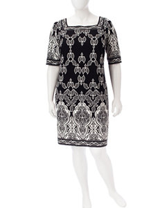 Sandra Darren Black / White Everyday & Casual Jacket Dresses