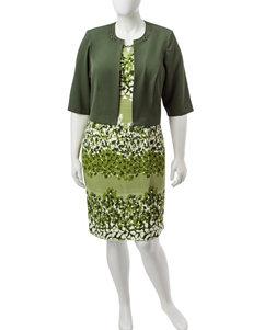 Dana Kay 2-pc. Plus-size Mixed Print Dress & Jacket Set