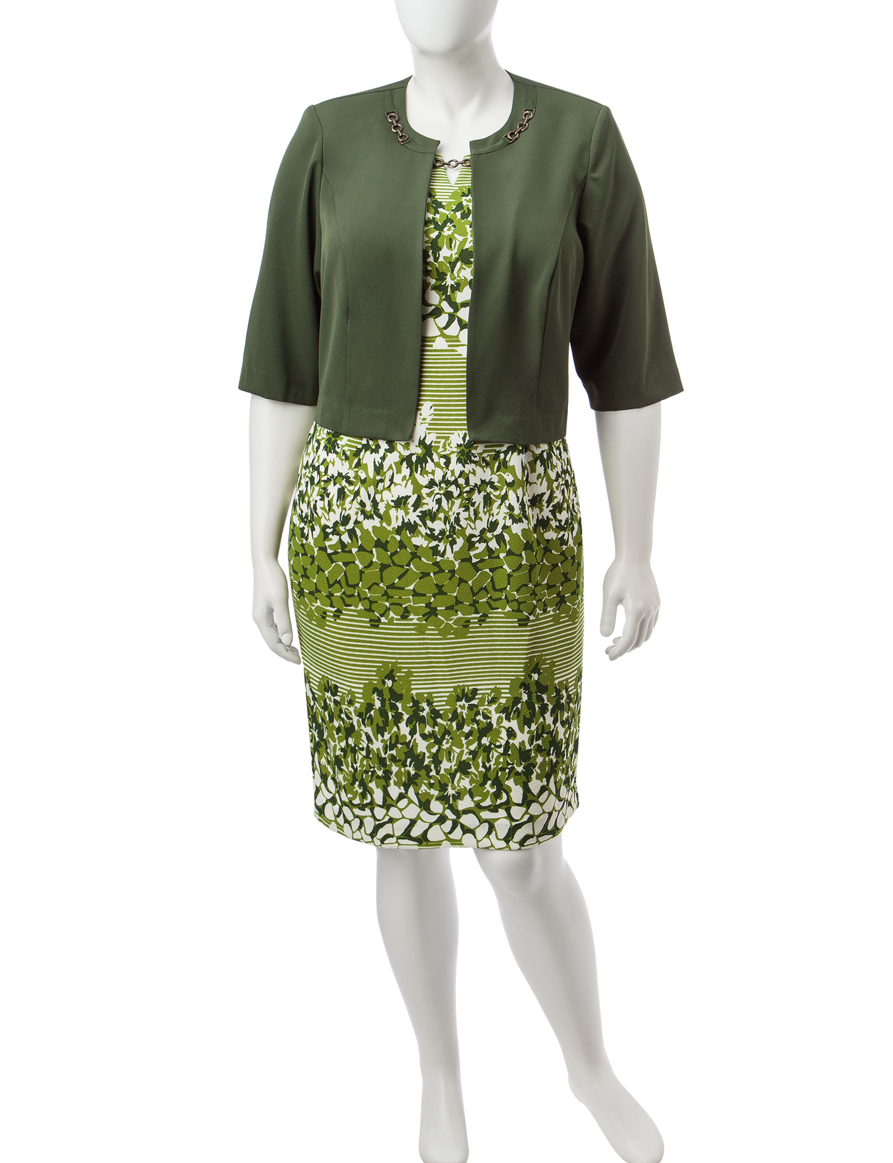 Dana Kay Green Everyday & Casual Jacket Dresses