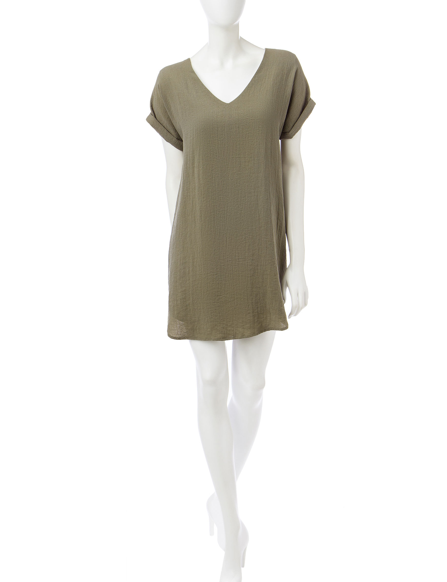 Sharagano Olive Everyday & Casual Shift Dresses