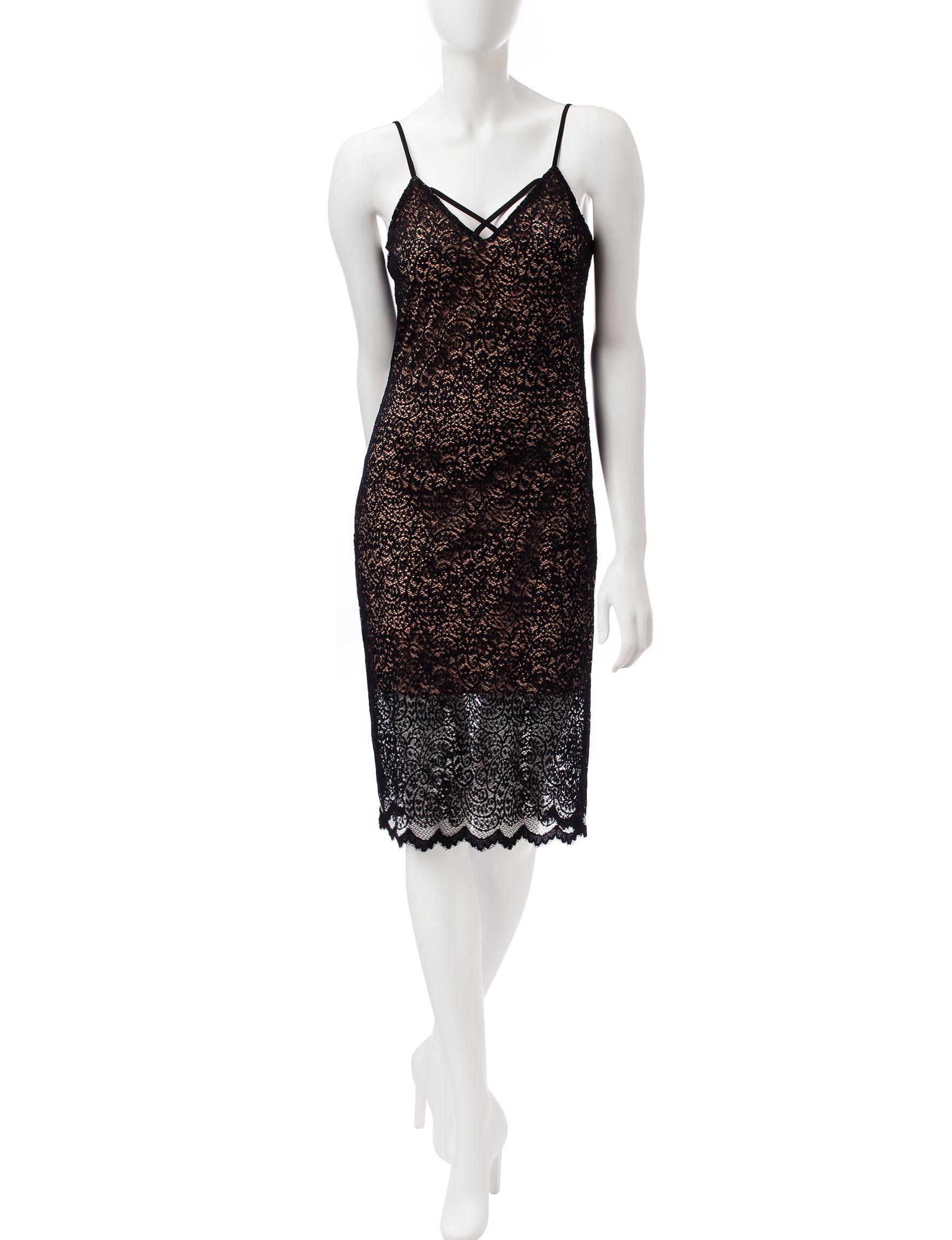 Wishful Park Black Everyday & Casual Sheath Dresses