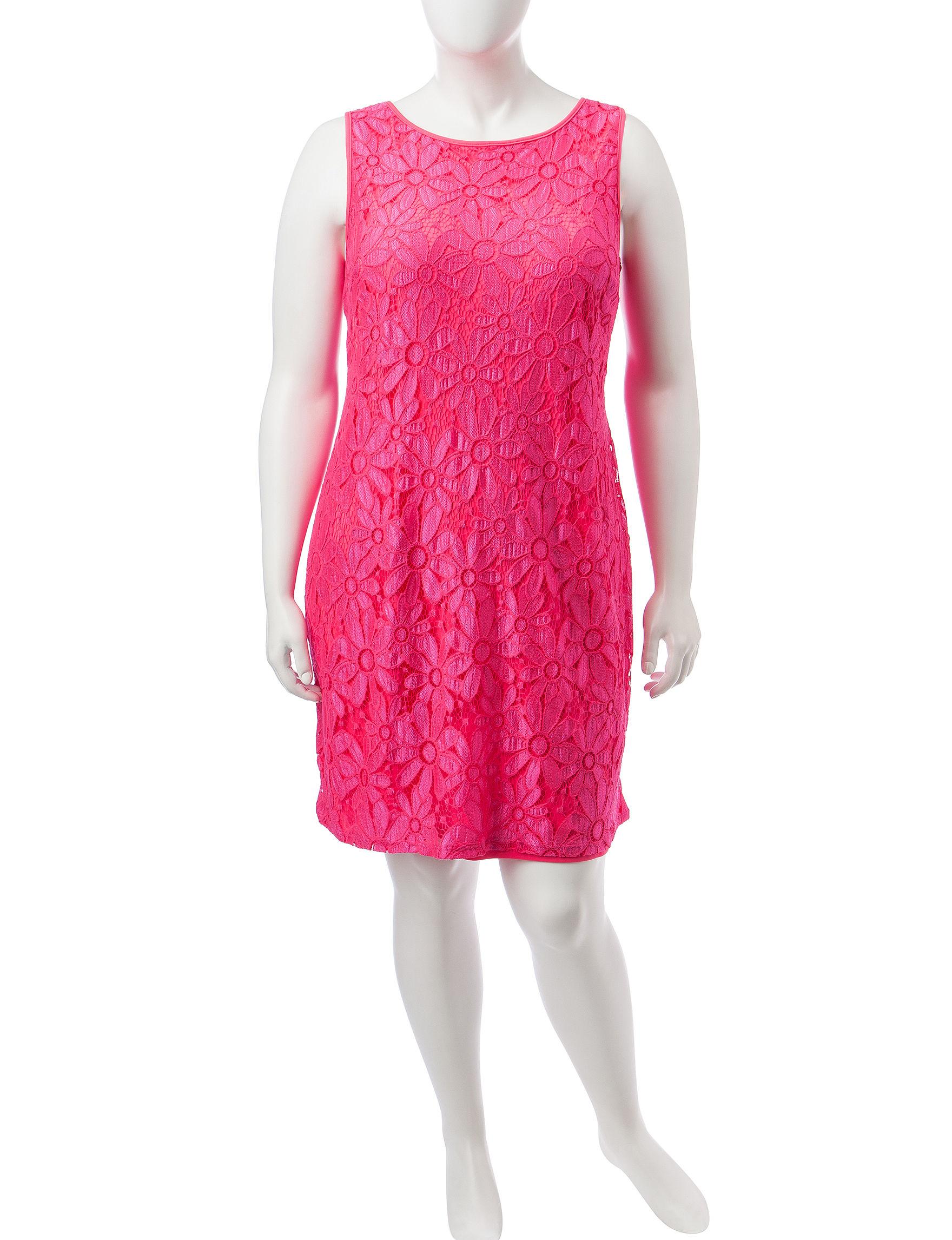 Madison Leigh Fuchsia Everyday & Casual Sheath Dresses