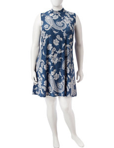 Madison Leigh Blue Everyday & Casual Shift Dresses