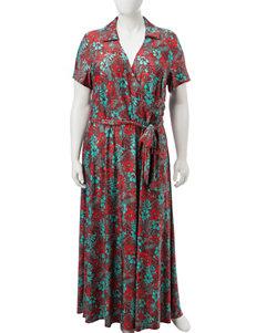 Madison Leigh Plus-size Faux Wrap Maxi Dress