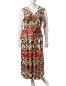 Madison Leigh Plus-size Tie Waist Maxi Dress