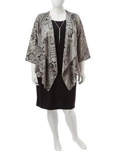 R & K Originals Black / Ivory Everyday & Casual Jacket Dresses