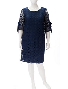 Madison Leigh Navy Everyday & Casual Shift Dresses