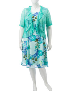 Madison Leigh Green Everyday & Casual Jacket Dresses
