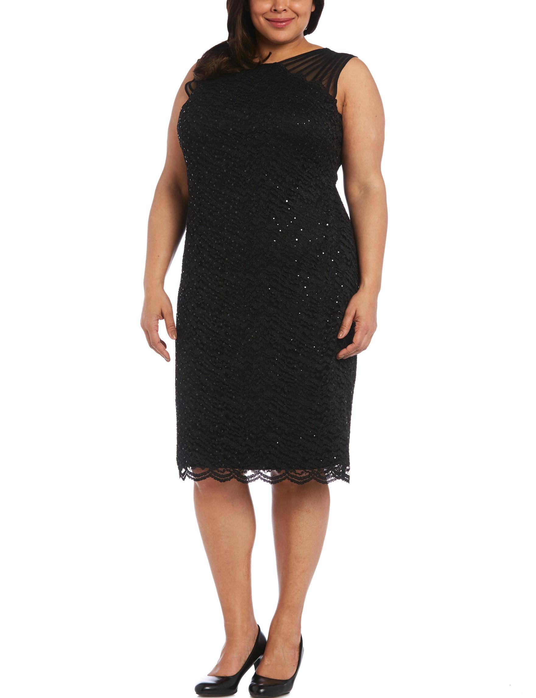 Nightway Black Evening & Formal Sheath Dresses