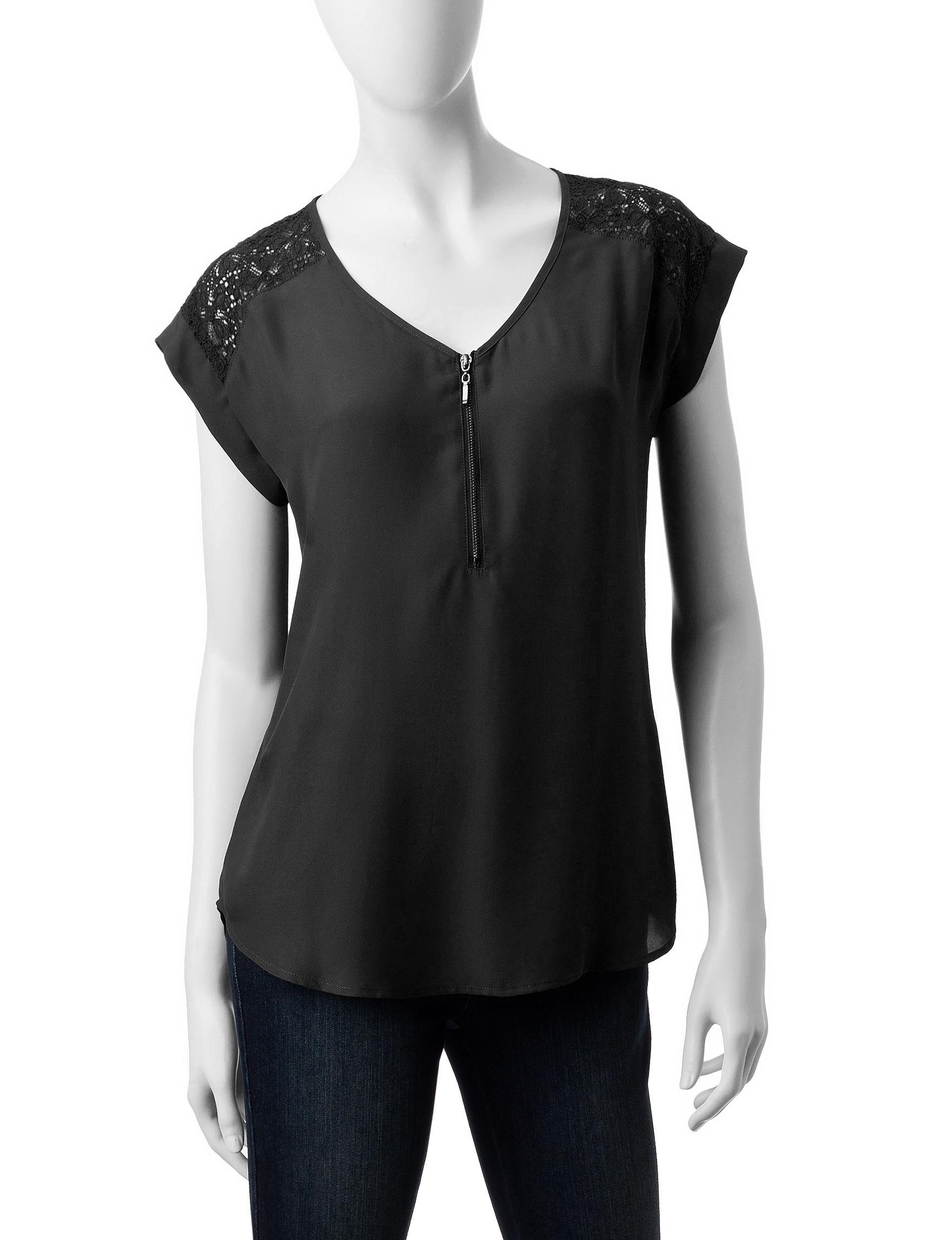 My Michelle Black Shirts & Blouses