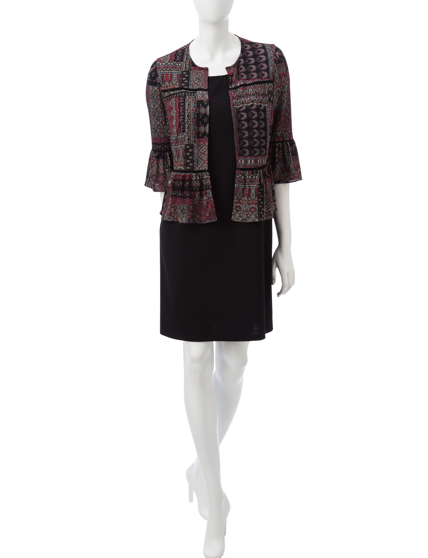 Perceptions Black Everyday & Casual Jacket Dresses