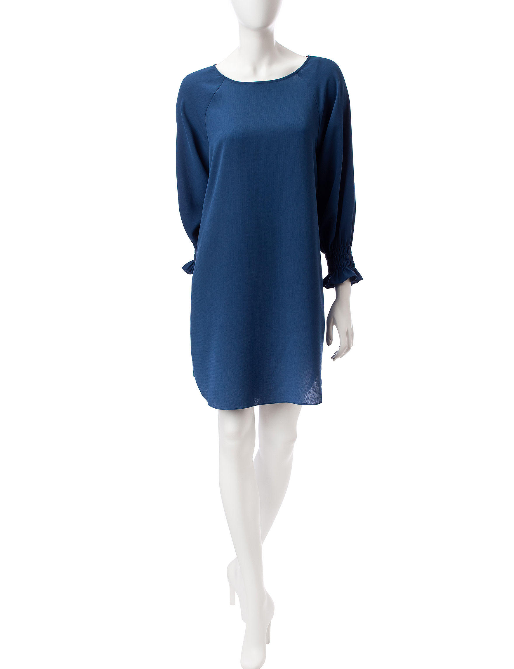 Nine West Blue Everyday & Casual Shift Dresses