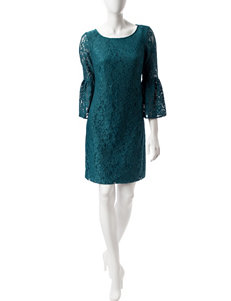 Nine West Patina Blue Everyday & Casual Shift Dresses