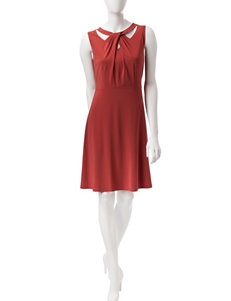 Nine West Red Everyday & Casual Fit & Flare Dresses